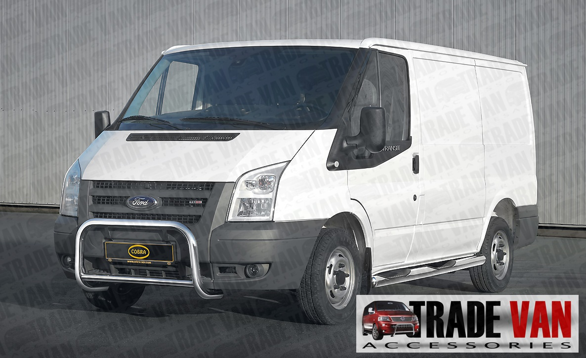 Cobra chrome stainless steel A Bars and side Bars UK legal protection for ford transit van at Trade Van Accessories